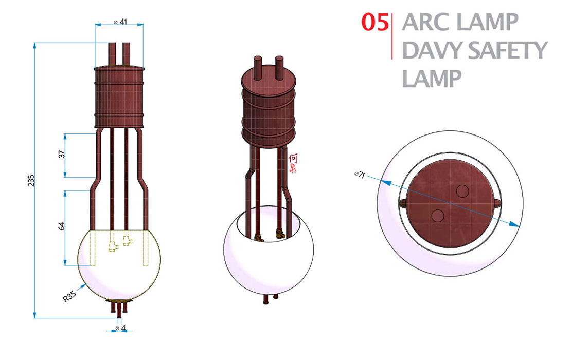5 | Arc Lamp and Davy Safety Lamp